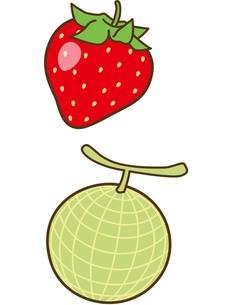 苺とメロンの素材 [FYI00128844]