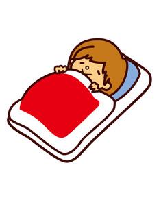 寝ている女性の写真素材 [FYI00128849]