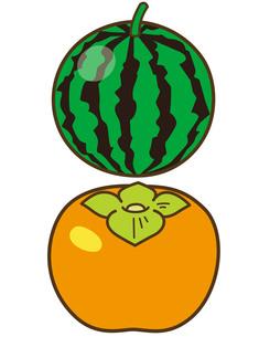スイカ・柿の写真素材 [FYI00128851]
