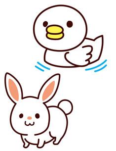 アヒルとウサギの写真素材 [FYI00128859]
