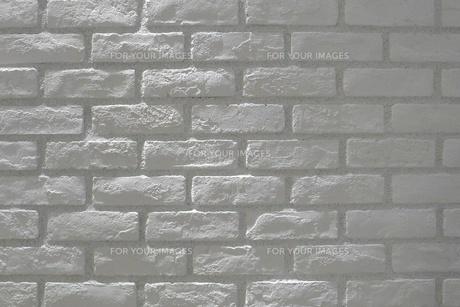 白いレンガ壁の写真素材 [FYI00128979]