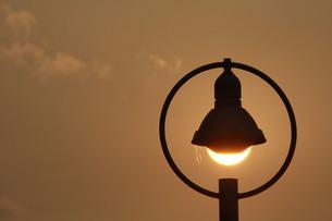 夕日の街灯の写真素材 [FYI00131241]