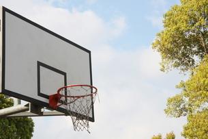 空の下のバスケットボードの写真素材 [FYI00131246]