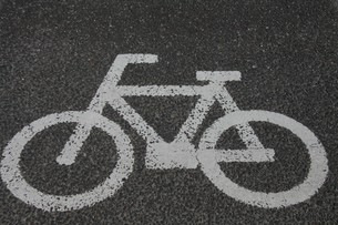 路面自転車の写真素材 [FYI00131265]