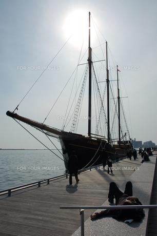 オンタリオ湖畔の船の写真素材 [FYI00131428]