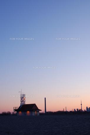 オンタリオ湖の夕焼け空の写真素材 [FYI00131434]