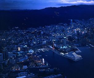 神戸メリケンパーク 夜景の写真素材 [FYI00131581]