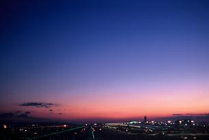 関西空港の夕景(1)の素材 [FYI00131588]