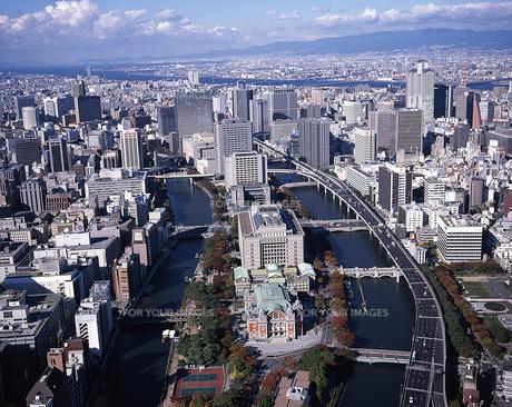 水都 大阪(中之島)空撮の素材 [FYI00131604]