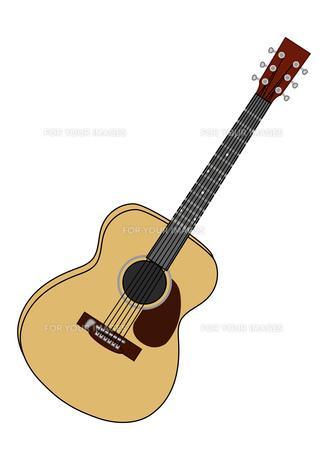フォークギターのイラストの写真素材 [FYI00133234]