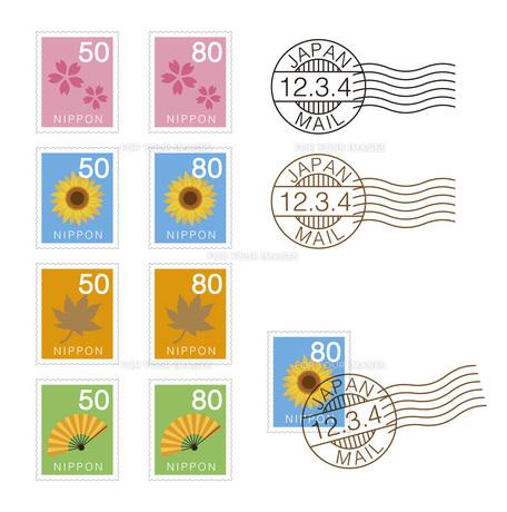 切手のイラストの写真素材 [FYI00133555]