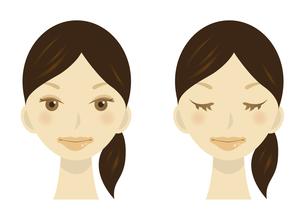 女性の顔のイラストの写真素材 [FYI00133560]