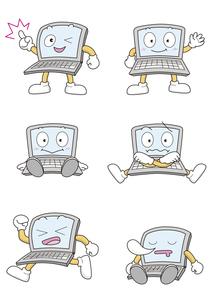 パソコンのキャラクターの写真素材 [FYI00133568]