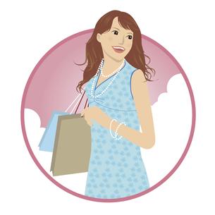 ショッピング中の女性のイラストの写真素材 [FYI00133571]