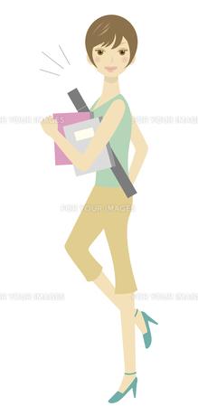 働く女性のイラストの写真素材 [FYI00133580]