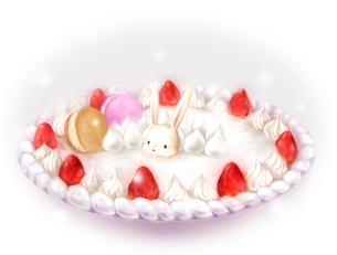 うさぎケーキの写真素材 [FYI00133600]