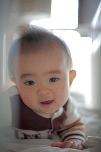あどけない笑顔の幼児の写真素材 [FYI00133697]