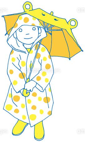 雨の日の子供の写真素材 [FYI00133929]