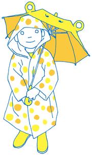 雨の日の子供の素材 [FYI00133929]