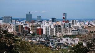春の仙台市街地を望むの写真素材 [FYI00134158]