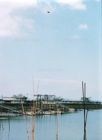 漁港と空の写真素材 [FYI00134258]