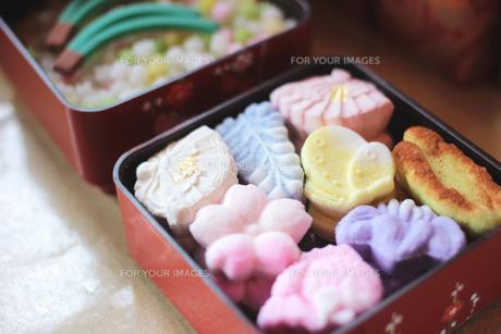 和菓子 干菓子の写真素材 [FYI00134435]