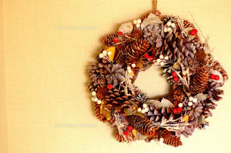 クリスマスリースの写真素材 [FYI00134599]