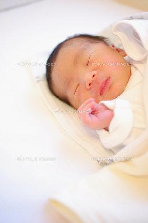 眠る新生児の写真素材 [FYI00134622]