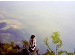 カモがいる風景7の写真素材 [FYI00134644]