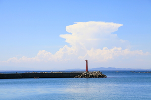 夏の空と海の写真素材 [FYI00134965]