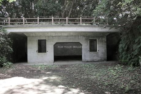 大房岬要塞の兵員待機所の写真素材 [FYI00134996]