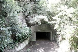 大房岬要塞の地下壕の写真素材 [FYI00135013]