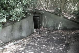 大房岬要塞の設備格納壕の写真素材 [FYI00135159]