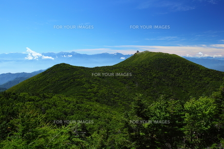 金峰山の山並みの写真素材 [FYI00135518]