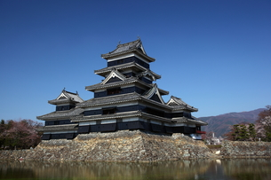 快晴の松本城の写真素材 [FYI00135525]