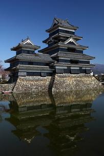 快晴の松本城の写真素材 [FYI00135531]
