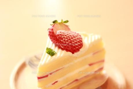 いちごのショートケーキの写真素材 [FYI00135717]