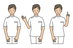 看護士の男性-3ポーズの写真素材 [FYI00136013]