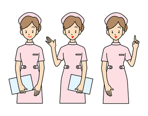 看護婦さん-3ポーズの写真素材 [FYI00136041]