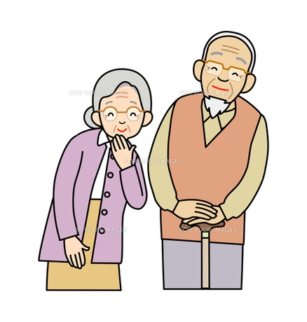 おじいさんとおばあさんの写真素材 [FYI00136055]