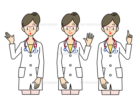 女医-3ポーズの素材 [FYI00136056]