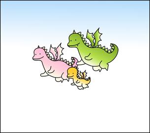 ドラゴン3匹の写真素材 [FYI00136060]