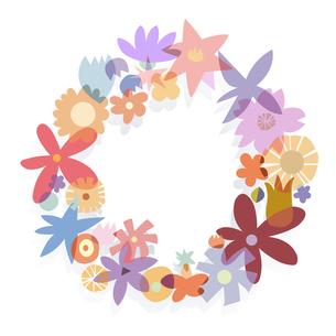 花のリースの写真素材 [FYI00136061]