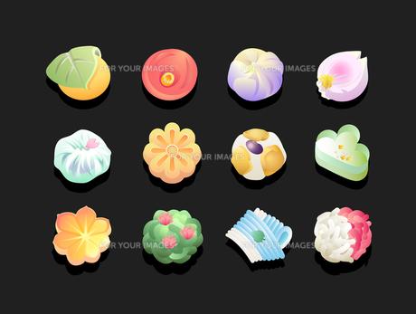 和菓子-12パターンの素材 [FYI00136065]
