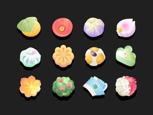 和菓子-12パターンの写真素材 [FYI00136065]