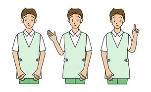 介護士の若い男性の写真素材 [FYI00136067]