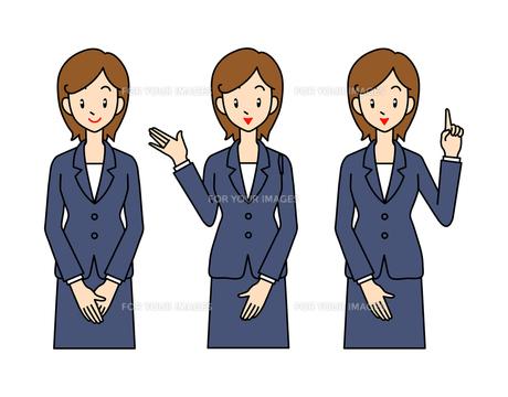 スーツ姿の若い女性の素材 [FYI00136071]