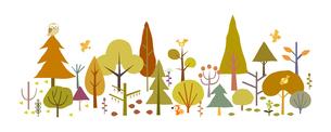 森と動物-秋の素材 [FYI00136073]