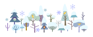 森と動物-冬の写真素材 [FYI00136076]