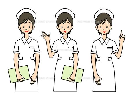 看護師B-3ポーズの写真素材 [FYI00136087]